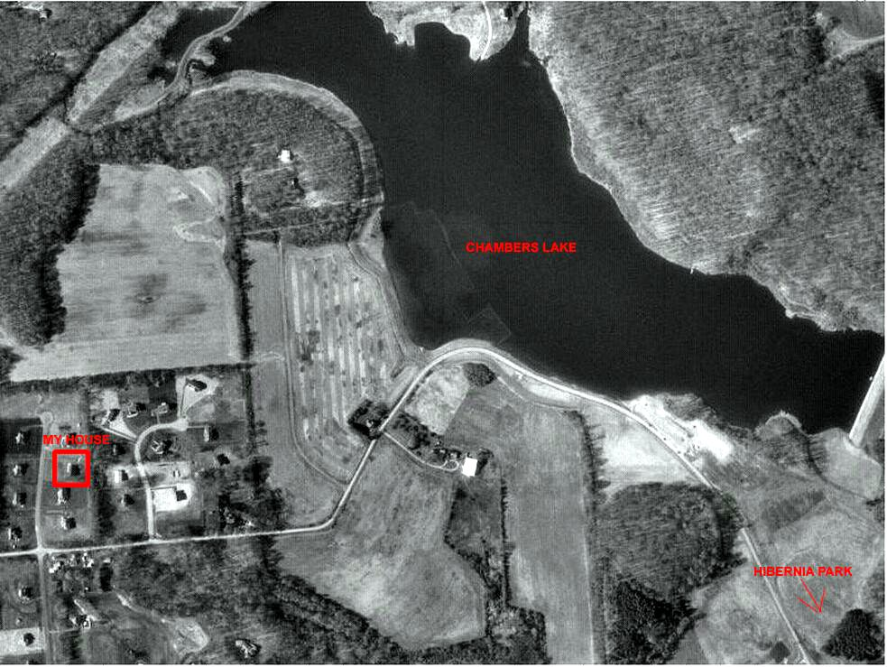 Satellite picture of Chamber's Lake in Coatesville, PA